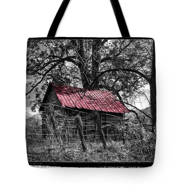 Red Roof Tote Bag by Debra and Dave Vanderlaan