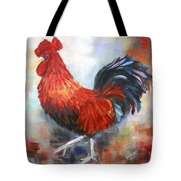 Red Rooster Tote Bag by Dorothy Maier