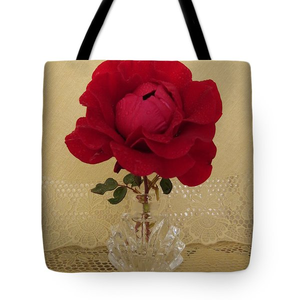 red rose III Tote Bag by Zina Stromberg
