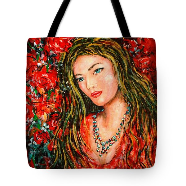 Red Roses Tote Bag by Natalie Holland