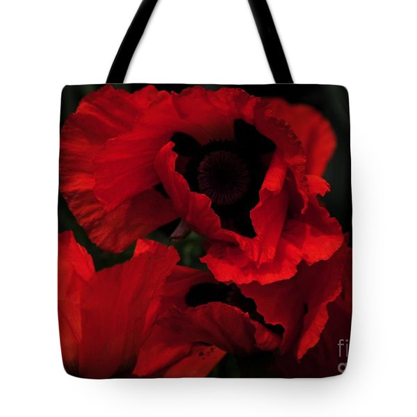 Red Ruffles Tote Bag by Kathleen Struckle