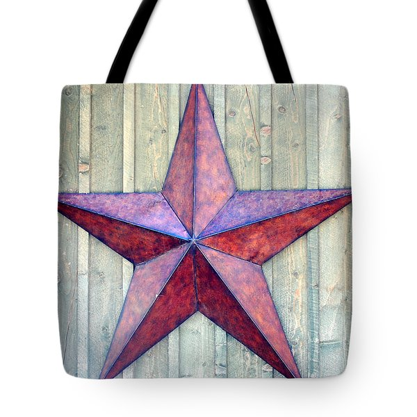 Red Rusted Star Tote Bag by Holly Blunkall