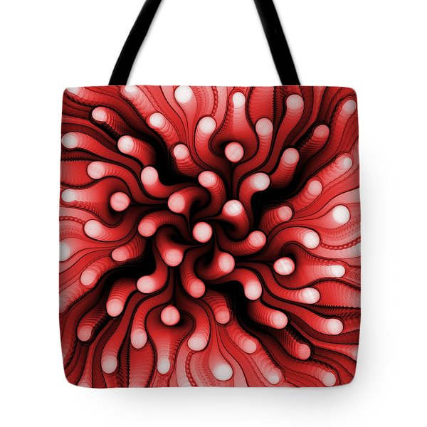 Red Sea Anemone Tote Bag by Anastasiya Malakhova