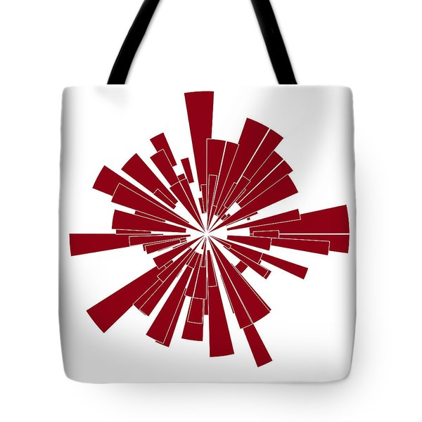 Red Shape Tote Bag by Frank Tschakert
