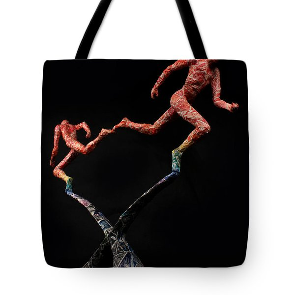Red Shift a science sculpture by Adam Long Tote Bag by Adam Long
