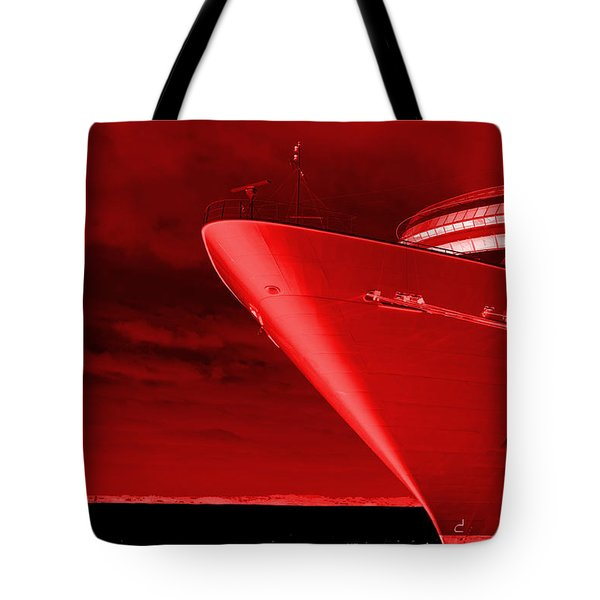 Red Sky At Morning ... Sailors Take Warning Tote Bag by Luke Moore