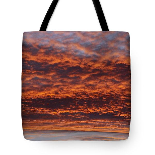 red sky Tote Bag by Michal Boubin