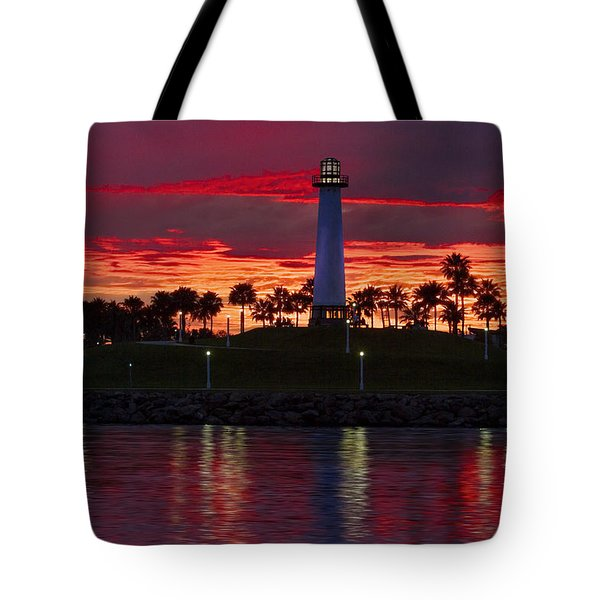 Red Skys At Night Denise Dube Photography Tote Bag by Denise Dube