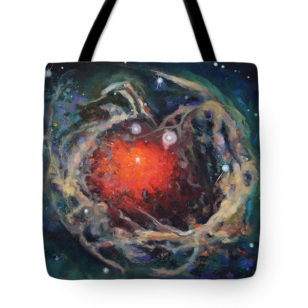 Red Star Tote Bag by Toni Wolf