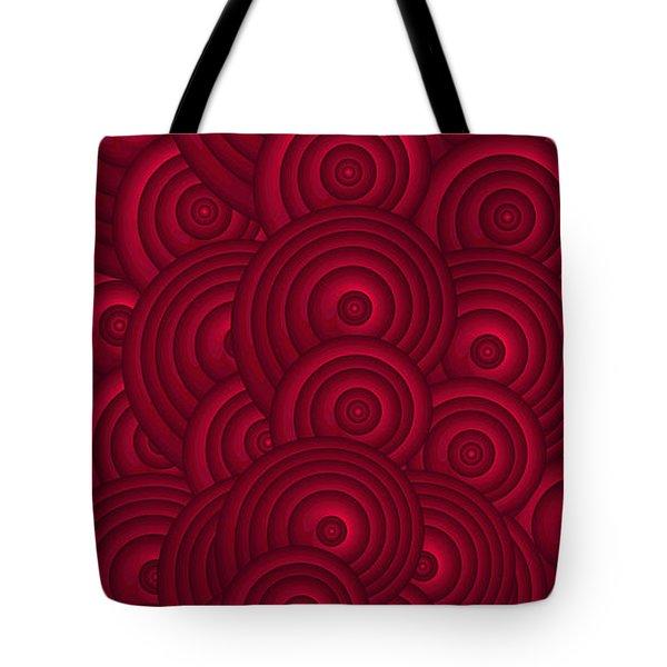 Red Swirls Tote Bag by Frank Tschakert