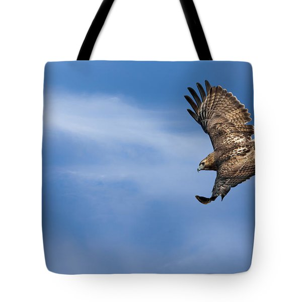 Red Tailed Hawk Soaring Tote Bag by Bill Wakeley