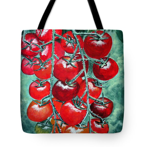 Red Tomatos Tote Bag by Huy Lee