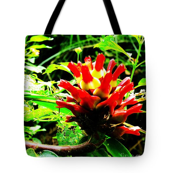 Red Torch Ginger Flower One Tote Bag by Tina M Wenger