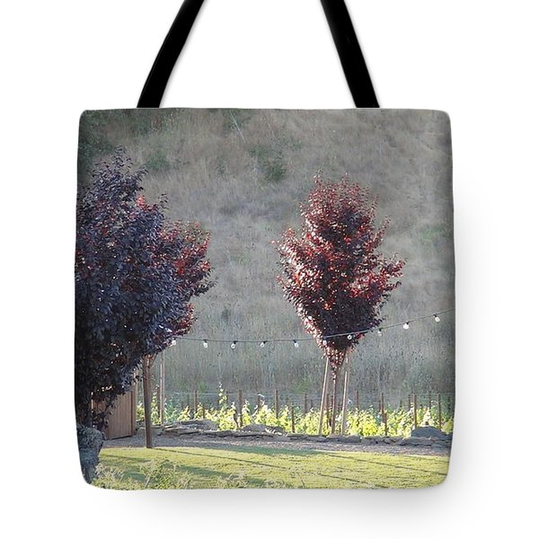 Red Tree's Tote Bag by Shawn Marlow