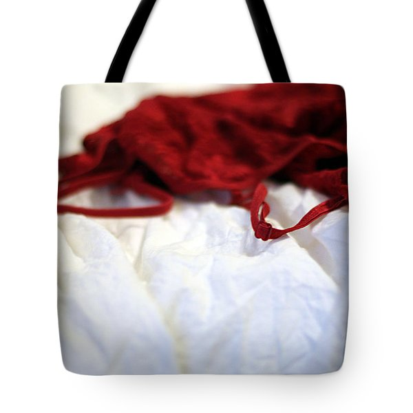 Red Tote Bag by Trish Mistric