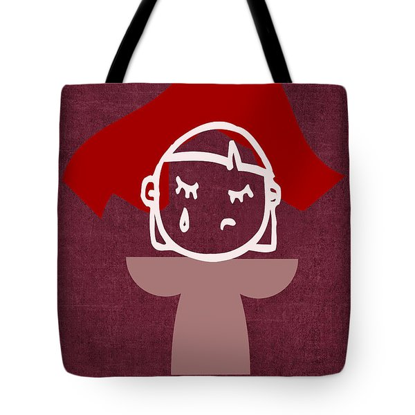 Red Veil Tote Bag by Tina M Wenger