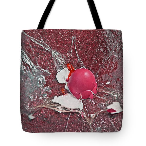Red Velocity Tote Bag by Betsy C  Knapp