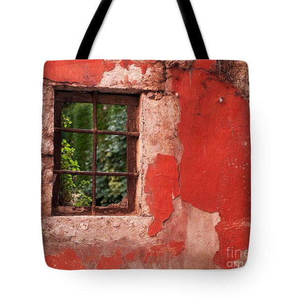 Red Wall Tote Bag by Rick Piper Photography