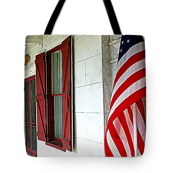 Red White And Blue Tote Bag by Dorothy Menera