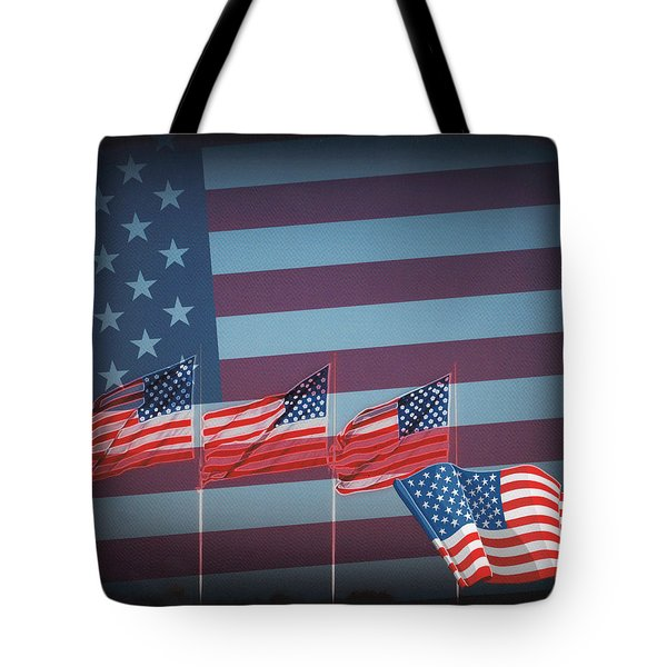 Red White And Blue Tote Bag by Kay Novy