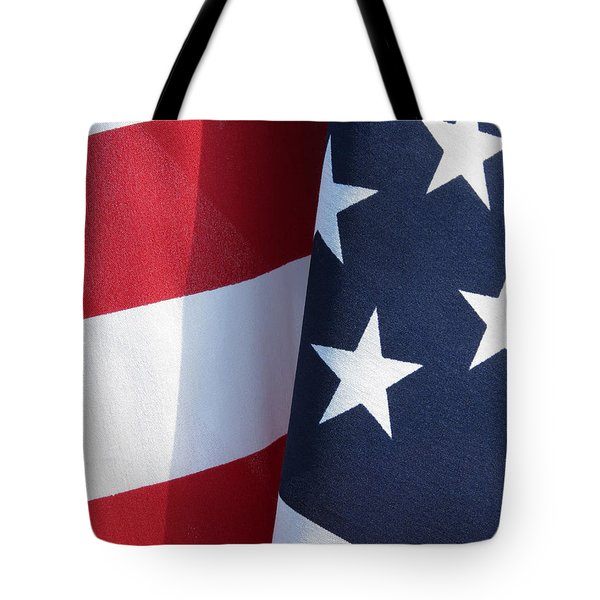 Red White and Blue Tote Bag by Laurel Powell
