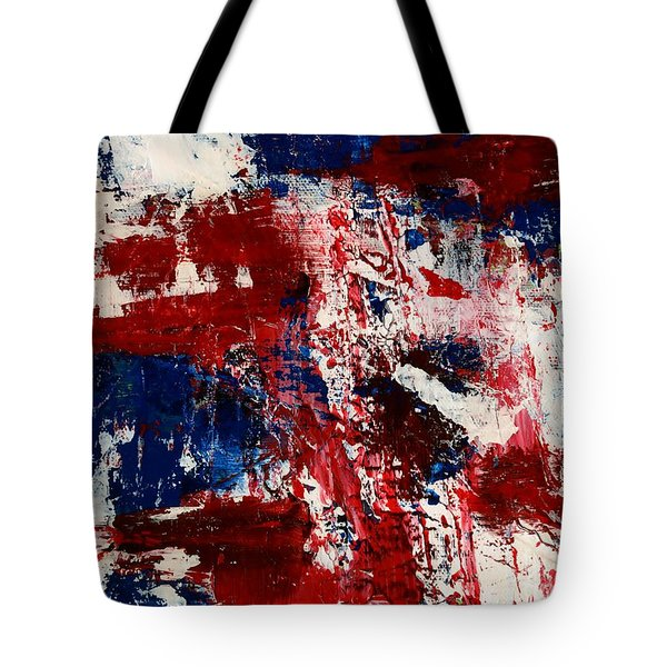 Red White And Blue Tote Bag by Susan Sadoury