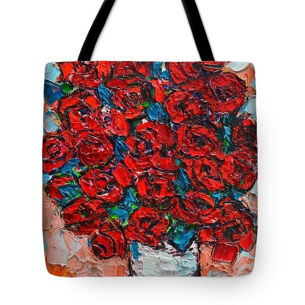 Red Wild Roses Tote Bag by Ana Maria Edulescu