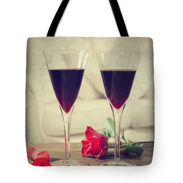 Red Wine And Roses Tote Bag by Amanda And Christopher Elwell
