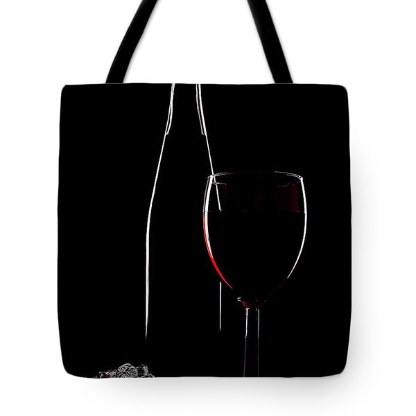 Red Wine Tote Bag by Marcia Colelli