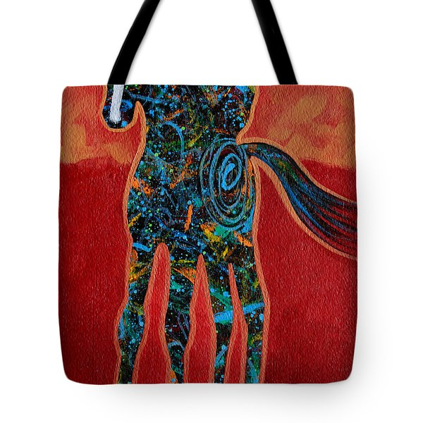 Red With Rope Tote Bag by Lance Headlee