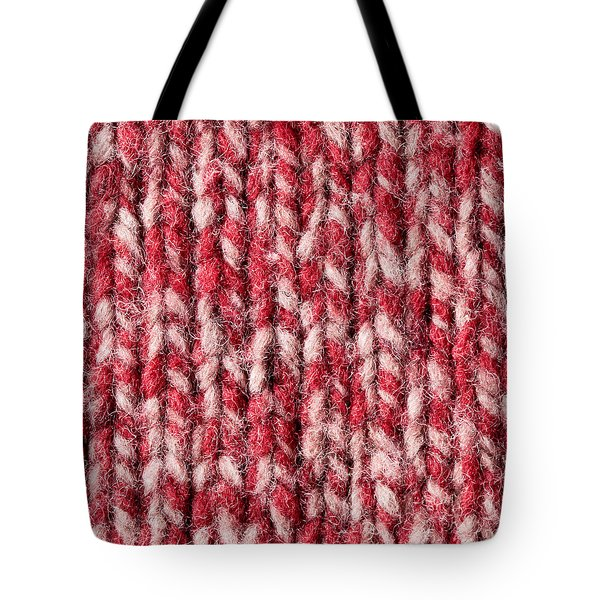 Red Wool Tote Bag by Tom Gowanlock