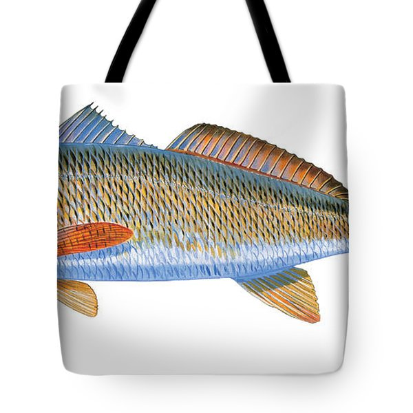 Redfish Tote Bag by Carey Chen