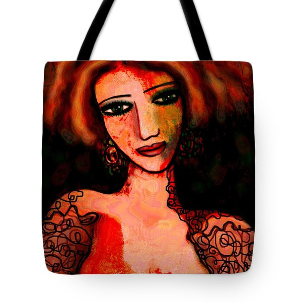 Redhead Tote Bag by Natalie Holland