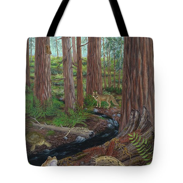Redwood Forest Tote Bag by Carlyn Iverson