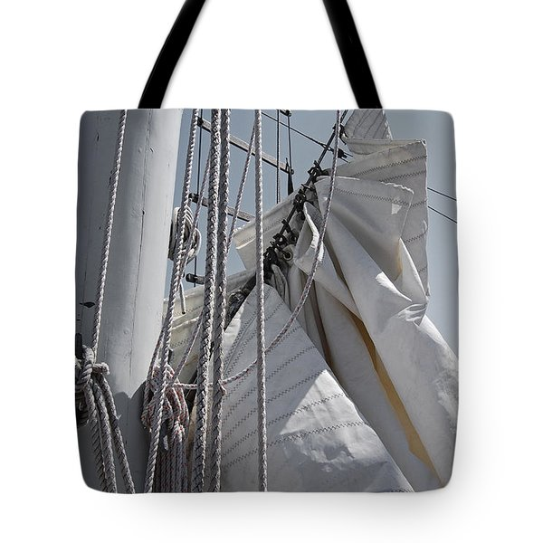 Reefing The Mainsail Tote Bag by Jani Freimann