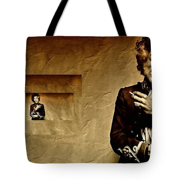 Reflecting On Jimi Hendrix  Tote Bag by Andrea Kollo