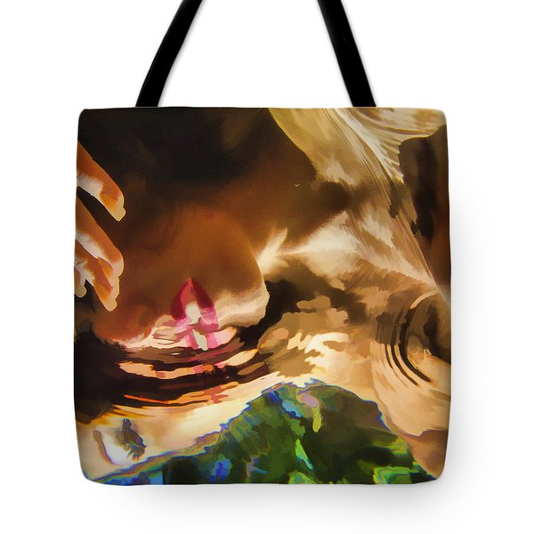 Reflecting On The Surface 1 Tote Bag by Scott Campbell