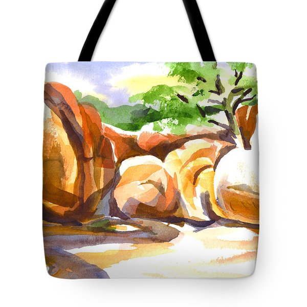 Reflections At Elephant Rocks B Tote Bag by Kip DeVore