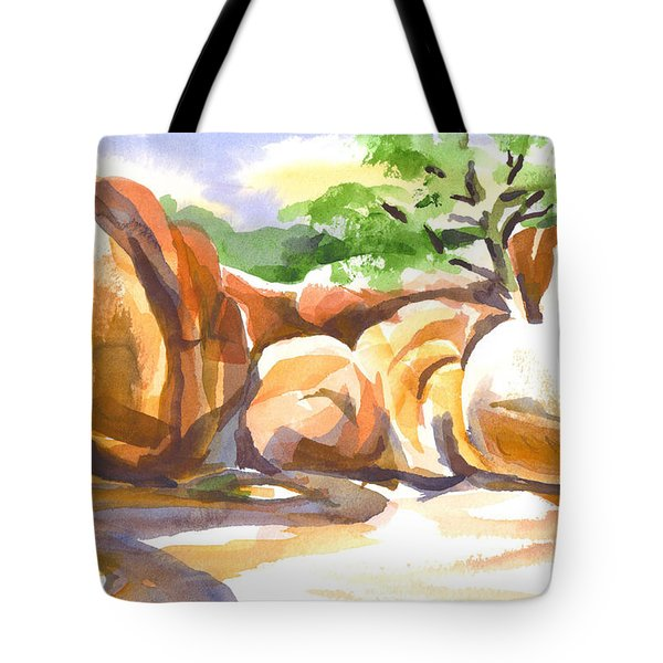 Reflections At Elephant Rocks Tote Bag by Kip DeVore