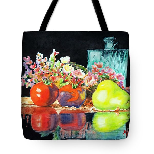 Reflections In Color Tote Bag by Kathy Braud