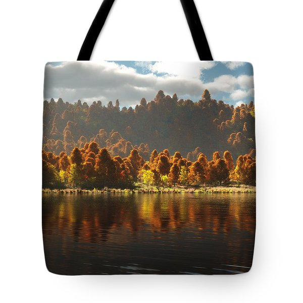 Reflections Of Autumn Tote Bag by Melissa Krauss