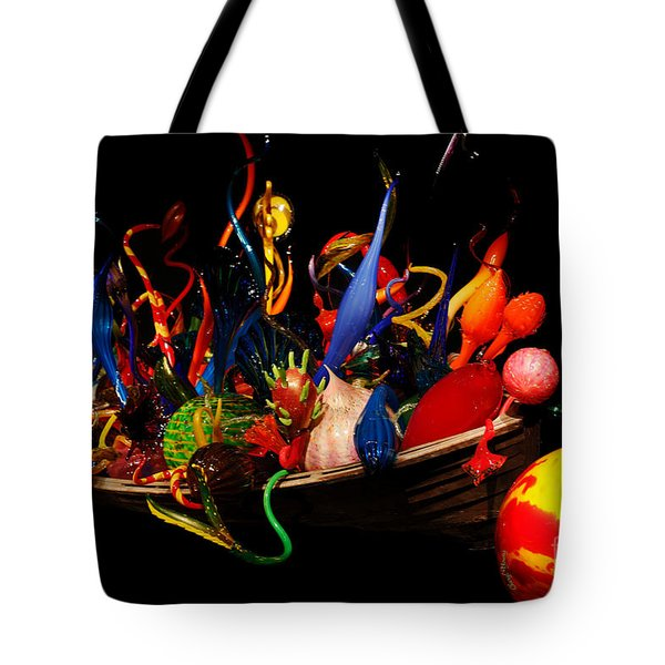 Reflections of Glass 3 Tote Bag by Cheryl Young