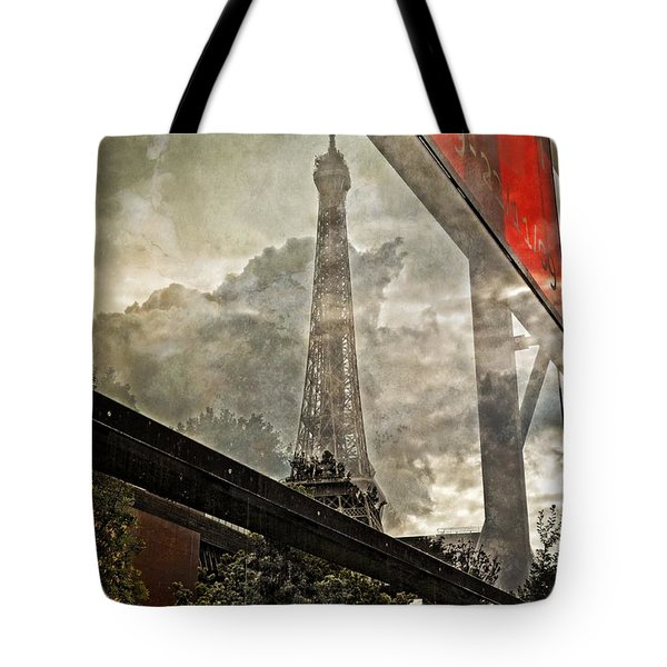Reflections Of Paris Tote Bag by Mary Machare