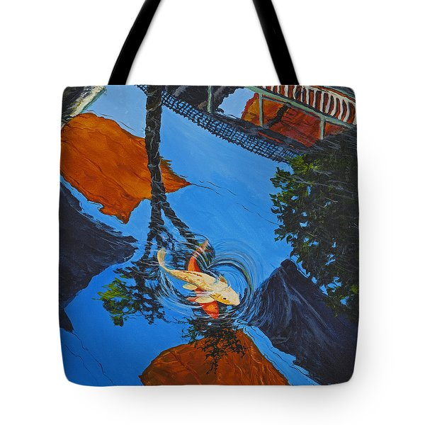 Reflections Of The Wharf Tote Bag by Darice Machel McGuire