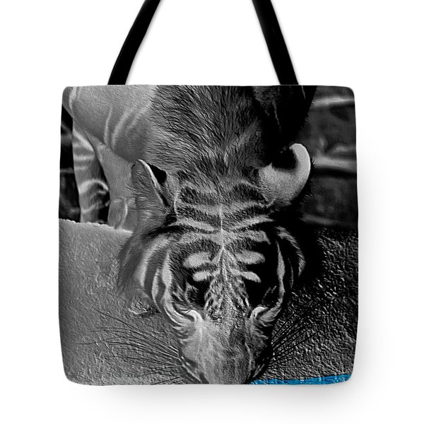 Reflections Of The Wild Negative Tote Bag by DigiArt Diaries by Vicky B Fuller