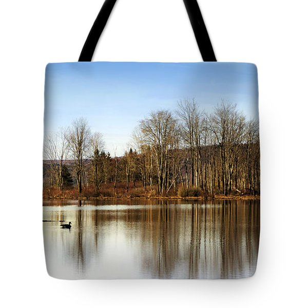 Reflections On Golden Pond Tote Bag by Christina Rollo