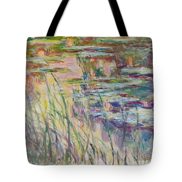 Reflections On The Water Tote Bag by Claude Monet