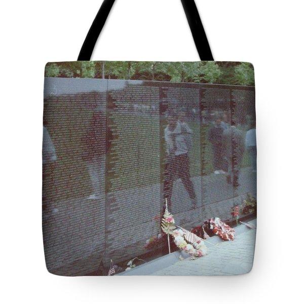 Reflections Vietnam Memorial Tote Bag by Joann Renner