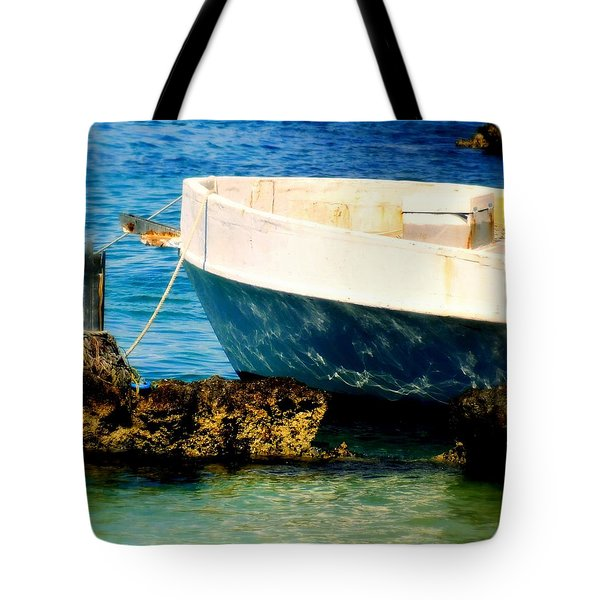 Reflective Bow Tote Bag by Karen Wiles