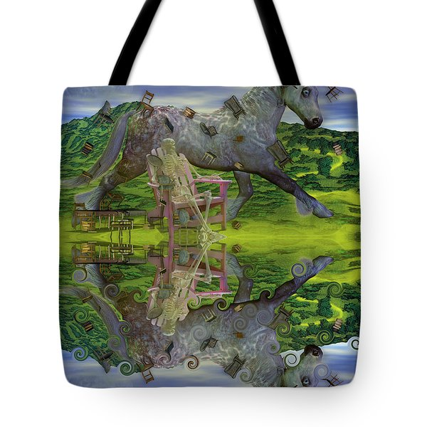 Reflective Oz Tote Bag by Betsy A  Cutler